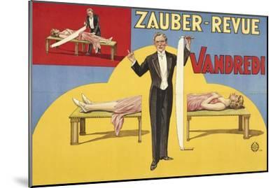 Zauber-Revue - Vandredi. Germany, 1923 (Adolph Friedländer, Hamburg)- Atelier Adolph Friedländer-Mounted Giclee Print