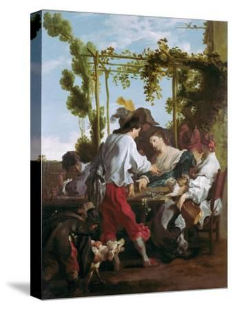 The Morra Game-Johann Liss (Lys)-Stretched Canvas Print