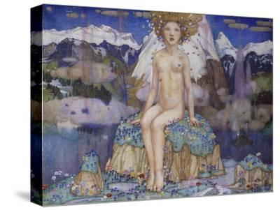 Love in the Alps-Edward Reginald Frampton-Stretched Canvas Print