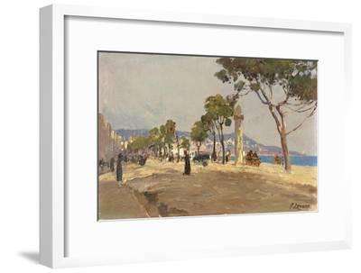 Promenade des Anglais, Nice-Fausto Zonaro-Framed Giclee Print
