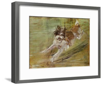 Jumping dog Schlick. 1904-Franz Marc-Framed Giclee Print