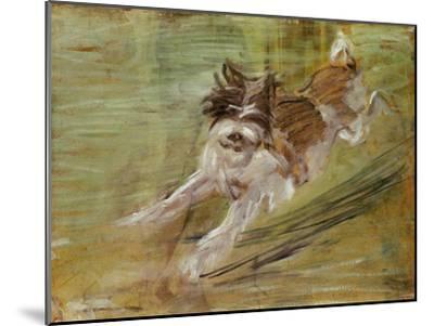 Jumping dog Schlick. 1904-Franz Marc-Mounted Giclee Print