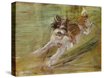 Jumping dog Schlick. 1904-Franz Marc-Stretched Canvas Print