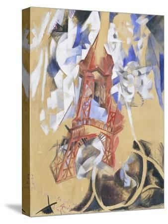 Tour Eiffel. 1910 - 11-Robert Delaunay-Stretched Canvas Print