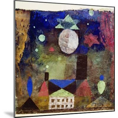 Stern über bösen Häusern-Paul Klee-Mounted Giclee Print