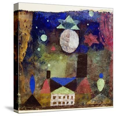 Stern über bösen Häusern-Paul Klee-Stretched Canvas Print