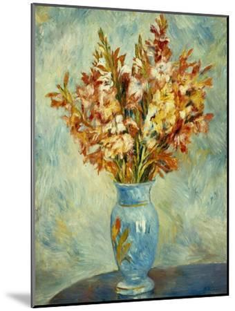 Gladioli in Blue Vase (Glaieuls au Vase Bleu). 1884-Pierre-Auguste Renoir-Mounted Giclee Print