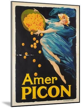Werbeplakat für den Aperitif Amer Picon. Gedruckt von Carlos Courmont, Paris--Mounted Giclee Print
