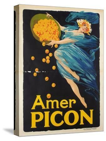 Werbeplakat für den Aperitif Amer Picon. Gedruckt von Carlos Courmont, Paris--Stretched Canvas Print