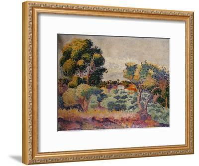 Eukalyptus und Olivenhain. 1907-Henri Edmond Cross-Framed Giclee Print