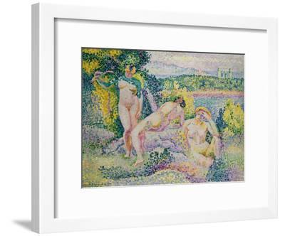 Nymphes. 1906-Henri Edmond Cross-Framed Giclee Print