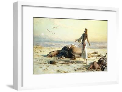 Shipwreck in the Desert. 1886-Carl Haag-Framed Giclee Print