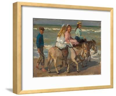 Donkey riding. 1898-1901-Isaac Israels-Framed Giclee Print