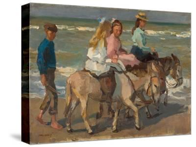 Donkey riding. 1898-1901-Isaac Israels-Stretched Canvas Print