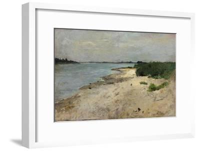 View over the Rhine, Düsseldorf near the earlier Golzheimer Island. Ca. 1865-Theodor Hagen-Framed Giclee Print