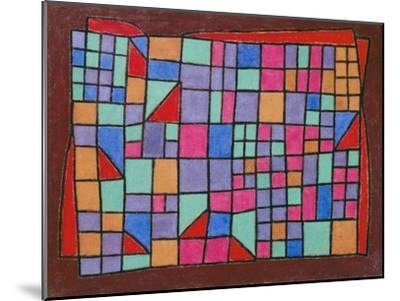 Glass Facade (Glas-Fassade). 1940, 288-Paul Klee-Mounted Giclee Print