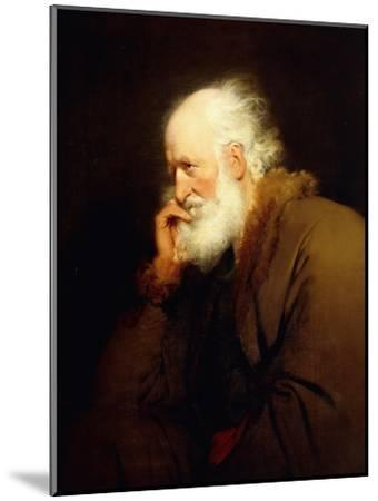 An Old Man, half-length, in a Brown Fur-lined Coat-Joseph Wright of Derby-Mounted Giclee Print