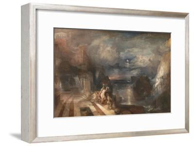 The Parting of Hero and Leander - from the Greek of Musaeus. Before 1937-J^ M^ W^ Turner-Framed Giclee Print