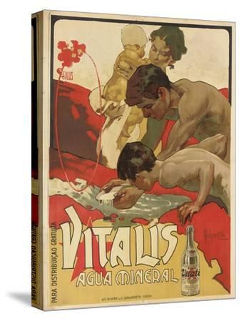 Werbung für das Mineralwasser 'Vitalis'. 1895-Adolf Hohenstein-Stretched Canvas Print