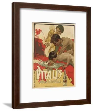 Werbung für das Mineralwasser 'Vitalis'. 1895-Adolf Hohenstein-Framed Giclee Print