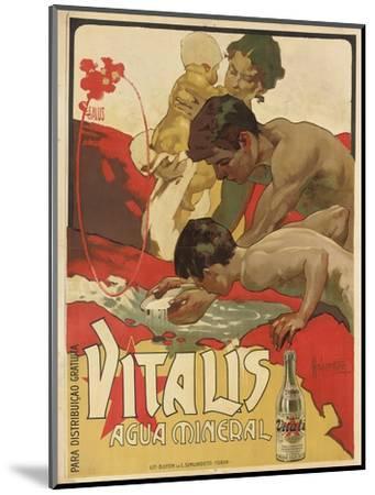 Werbung für das Mineralwasser 'Vitalis'. 1895-Adolf Hohenstein-Mounted Giclee Print