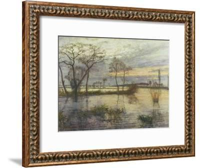 Evening on the river Wümme. 1938-Otto Modersohn-Framed Giclee Print
