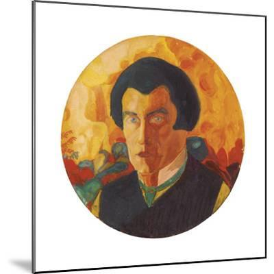Self-Portrait. Ca. 1908-1910-Kasimir Malewitsch-Mounted Giclee Print