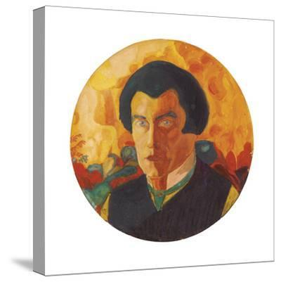 Self-Portrait. Ca. 1908-1910-Kasimir Malewitsch-Stretched Canvas Print