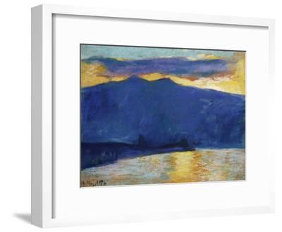 Sonnenaufgang am Gardasee. 1896-Lesser Ury-Framed Giclee Print
