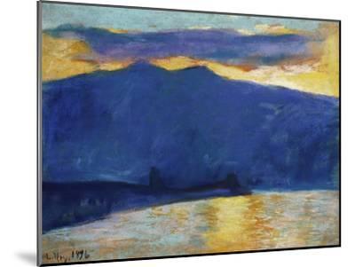 Sonnenaufgang am Gardasee. 1896-Lesser Ury-Mounted Giclee Print