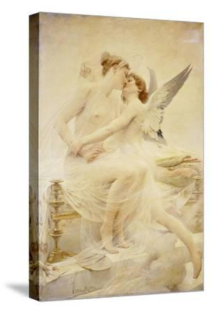 Cupid and Amor-Lionel Noel Royer-Stretched Canvas Print