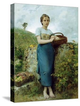 The Grape Picker. 1895-Leon Bazile Perrault-Stretched Canvas Print