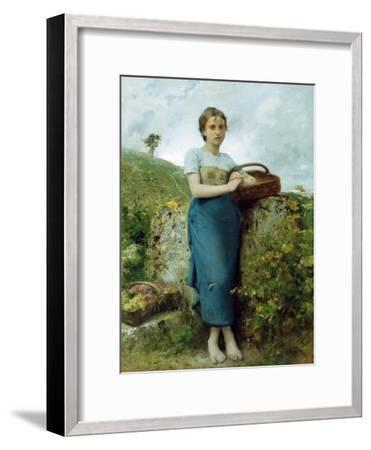 The Grape Picker. 1895-Leon Bazile Perrault-Framed Giclee Print