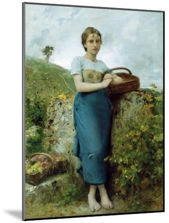 The Grape Picker. 1895-Leon Bazile Perrault-Mounted Giclee Print