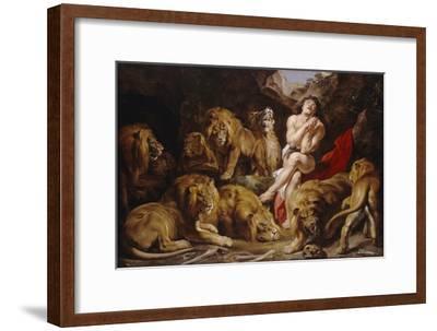 Daniel in the Lions' Den. Ca. 1614 - 16-Peter Paul Rubens-Framed Giclee Print