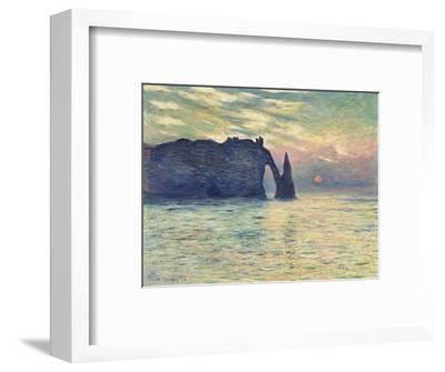 The Cliff, Étretat, Sunset. 1882-83-Claude Monet-Framed Giclee Print