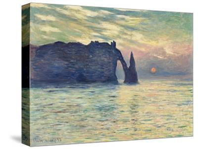 The Cliff, Étretat, Sunset. 1882-83-Claude Monet-Stretched Canvas Print
