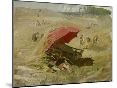 Der rote Schirm. Um 1860-Franz Von Lenbach-Mounted Giclee Print