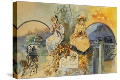 The Past and the Present-Edward Percy Moran-Stretched Canvas Print