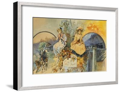 The Past and the Present-Edward Percy Moran-Framed Giclee Print