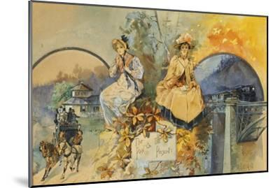 The Past and the Present-Edward Percy Moran-Mounted Giclee Print