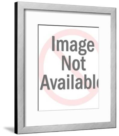 Older Man With Hand on Chin-Pop Ink - CSA Images-Framed Art Print