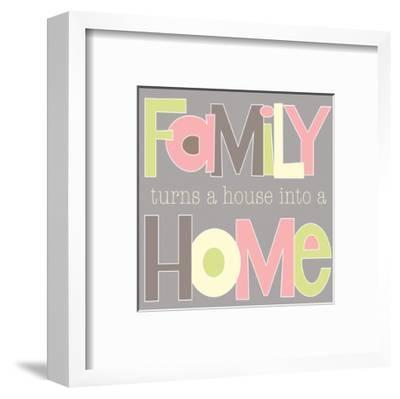 Family Turns a House-Alli Rogosich-Framed Art Print