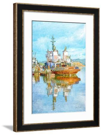 Harbor Tug-Ramona Murdock-Framed Art Print