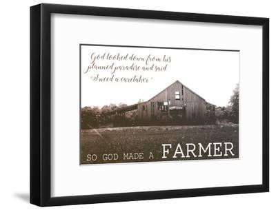 God Made A Farmer V Art Print By Amber Berninger Artcom