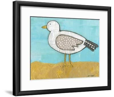 Seagull by the Seashore-Alli Rogosich-Framed Art Print