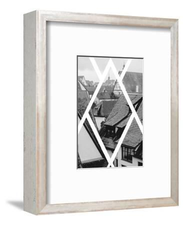 Rothenburg Housetops-Ramona Murdock-Framed Art Print