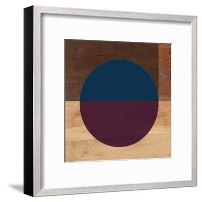 Mod Blue and Purple-Linda Woods-Framed Art Print