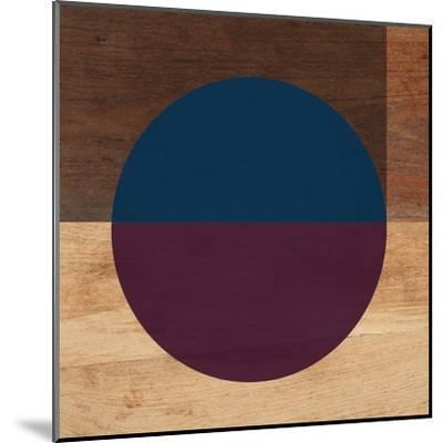 Mod Blue and Purple-Linda Woods-Mounted Art Print