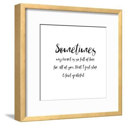Sometimes Heart-Pamela J. Wingard-Framed Art Print